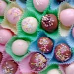 Chocolate Covered Vanilla Cake Balls