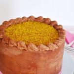 Yellow Cake with Chocolate Orange Buttercream