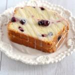 Low Fat Blueberry Pound Cake with Lemon Glaze