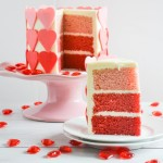 Ombre Valentine Cake