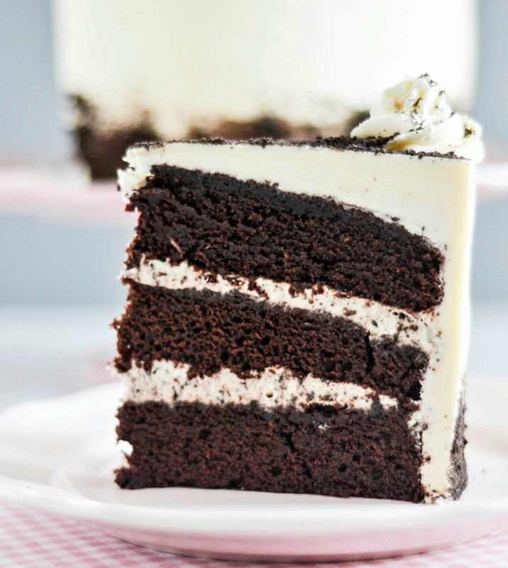 Chocolate Cake with Cookies and Cream Filling Bakes by ...