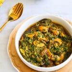 Spinach and Mushroom Egusi Stew