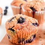 Brown Sugar Buttermilk Blueberry Muffins