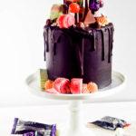 Chocolate Orange Halloween Candy Drip Cake