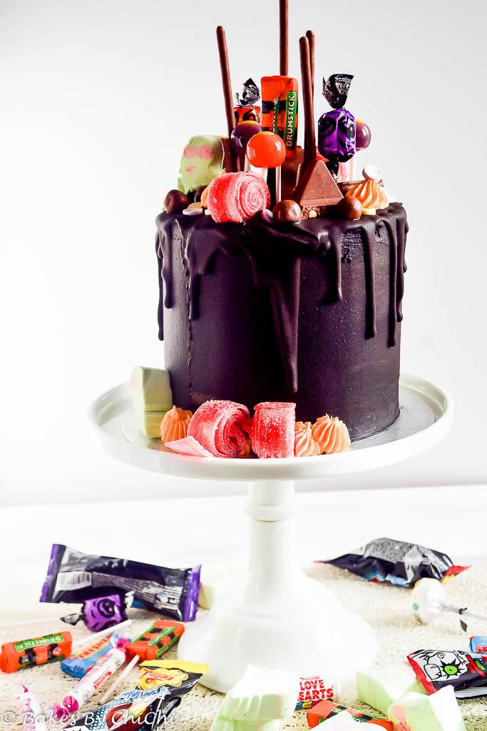 Chocolate Orange Halloween Drip Cake