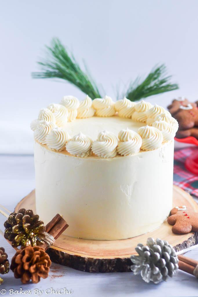 Gingerbread Cake with Caramel Swiss Meringue