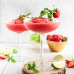 Frozen Strawberry Basil Daiquiri