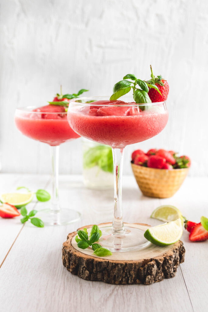 Strawberry Basil Daiquiri