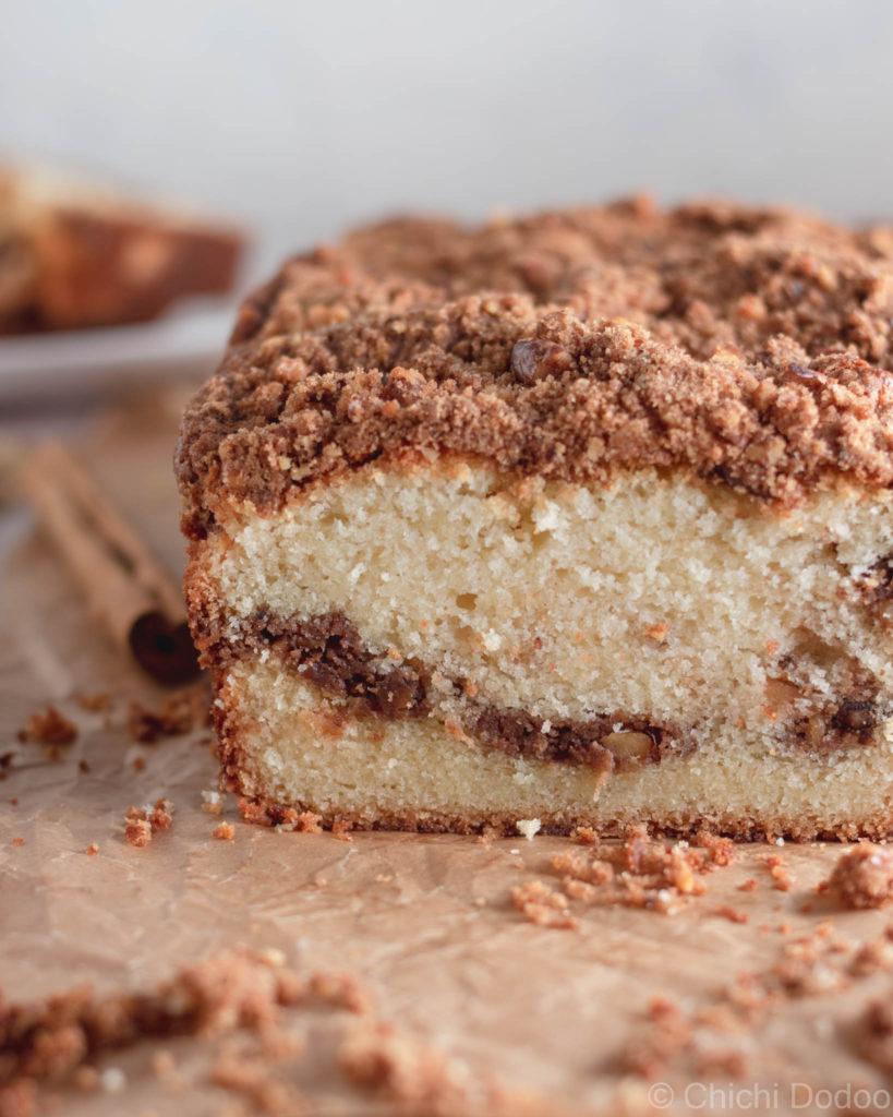 Cinnamon Streusel Coffee Loaf Cake