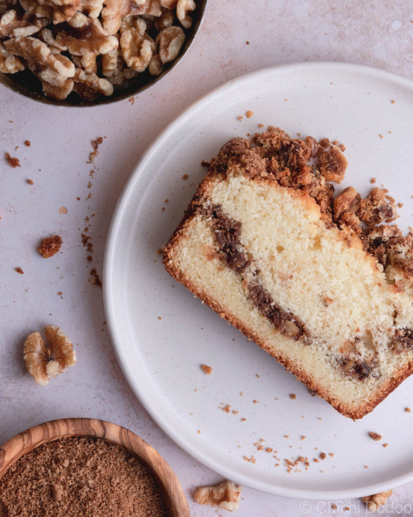 Cinnamon Coffee Loaf Cake with Streusel Topping