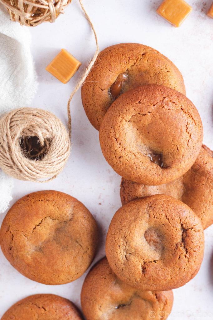 Caramel Gingerbread Cookies