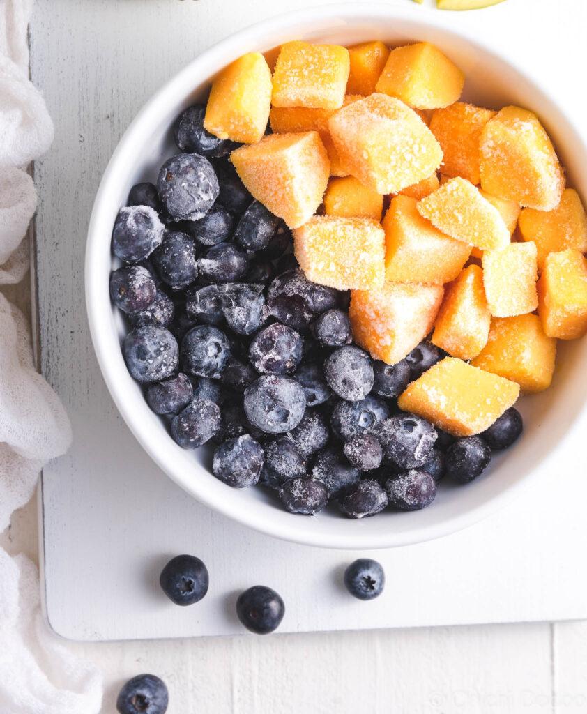 Mango Blueberry Soy Smoothie