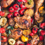 Mediterranean One Pan Baked Chicken with Vegetables