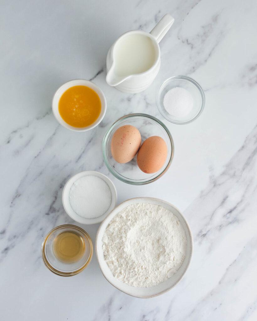 French Crêpes Ingredients