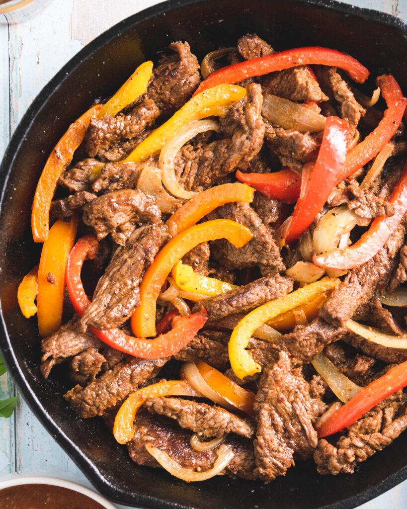 Tex-Mex Stir-Fry Steak with Peppers