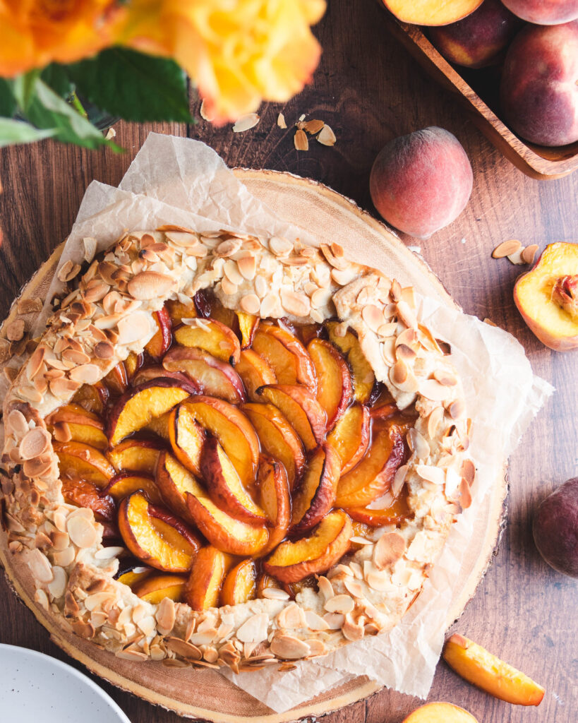 Amaretto Peach Almond Galette